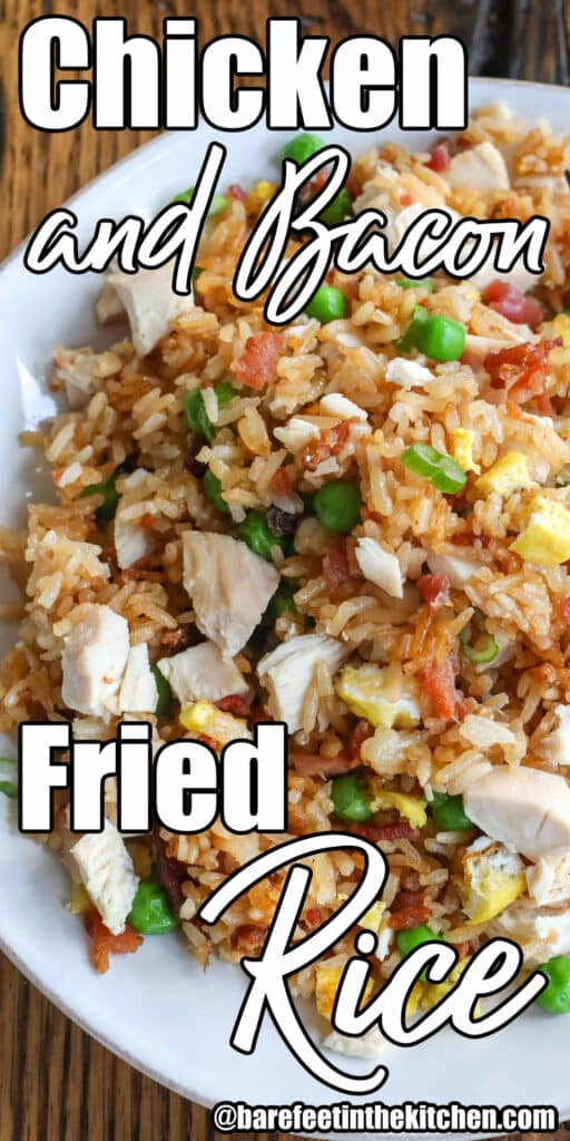 Bacon Fried Rice with Chicken and Egg