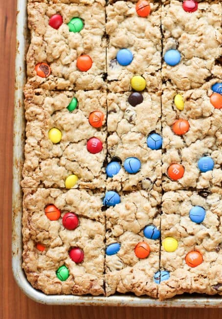 Monster Cookie Bars are a crowd-pleasing cookie favorite!