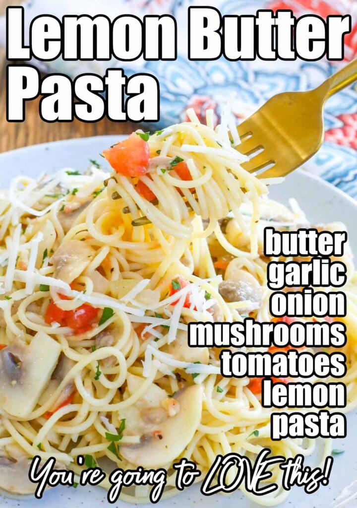 Lemon Butter Pasta ingredients
