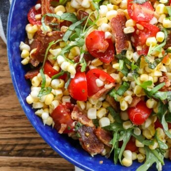 BLT Corn Salad is loaded with fresh summer flavors!