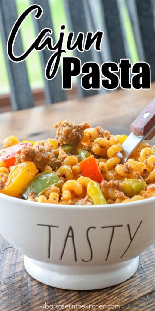 Five Ingredient Cajun Pasta is a winner!