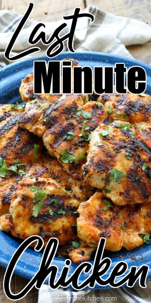 Last Minute Chicken - the easiest and tastiest chicken you can make in under ten minutes!