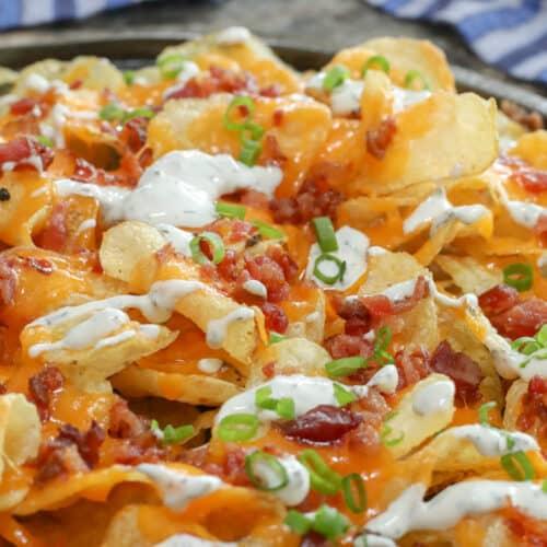 Potato Chip Nachos - aka Luke's Sinful Snack
