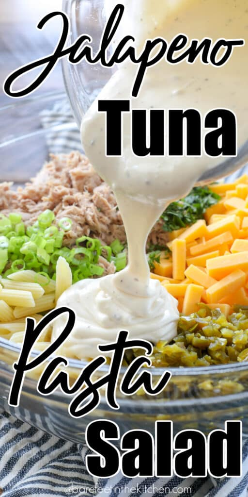 Jalapenos add something special to this Tuna Pasta Salad!
