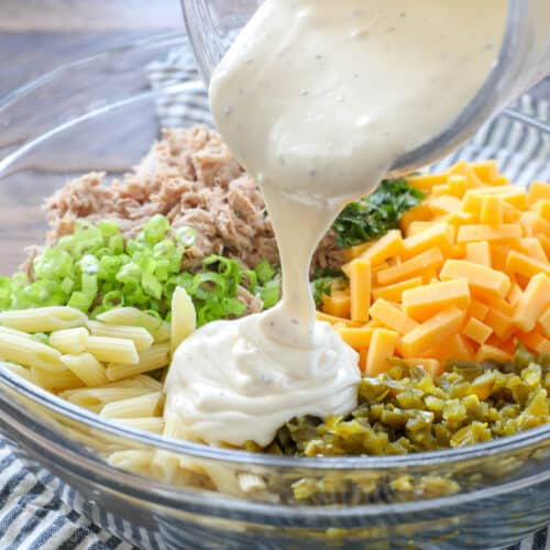 Jalapeno Tuna Pasta Salad is a summer favorite.