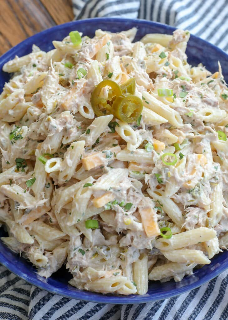 Jalapeno Tuna Pasta Salad - you're going to love this!