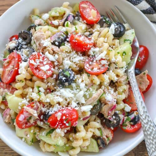 Mediterranean Pasta Salad with Tuna