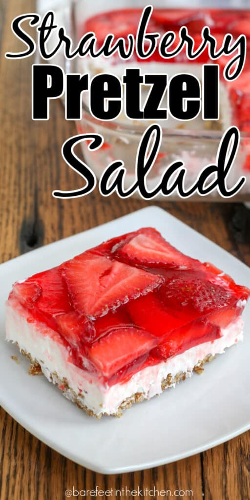 Strawberry Pretzel Salad is the strawberry dessert of my dreams.