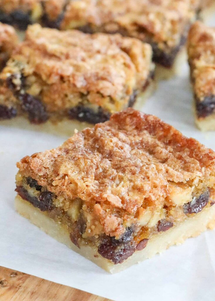 Butter Tart Squares with a shortbread crust