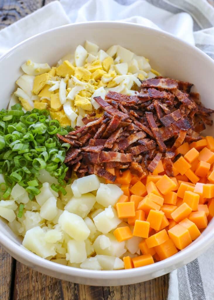 Cheddar + Bacon = one awesome potato salad