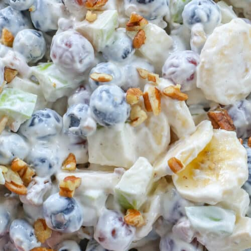 Creamy Fruit Salad with Vanilla Dressing