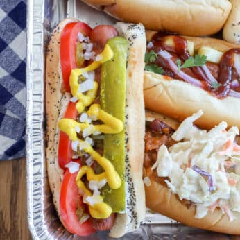 DIY Hot Dog Bar - with four different delicious combinations
