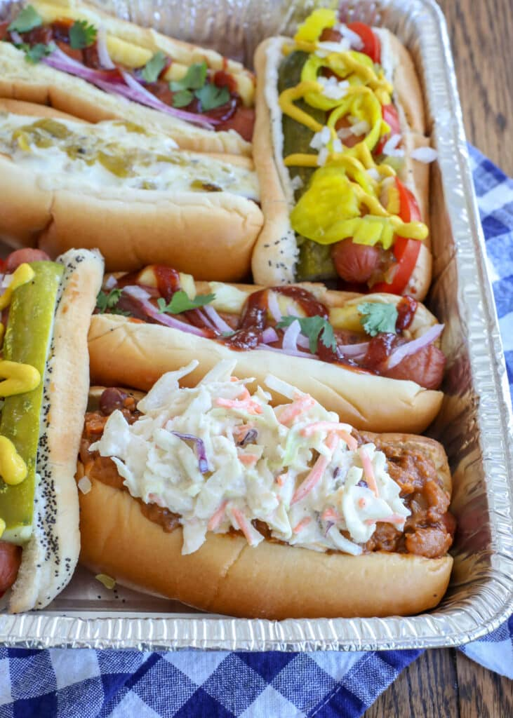 Wake up your grilling this year with a hot dog bar!