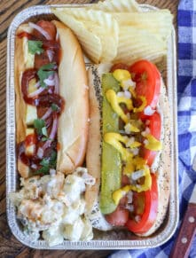 Chicago-style Hot Dogs and Hawaiian Dogs are a couple of family favorites!