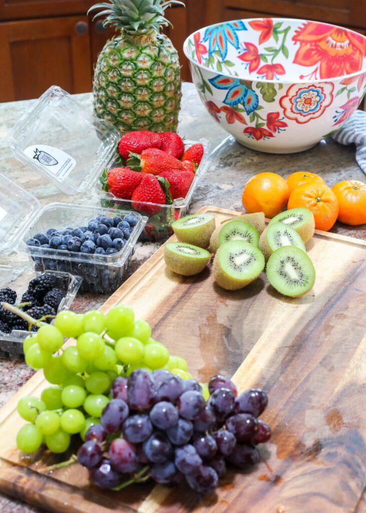 How To Make A Rainbow Fruit Salad