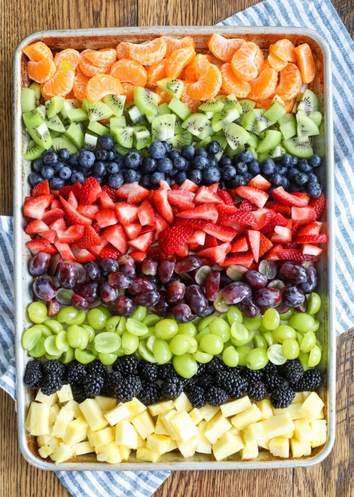 A colorful rainbow of fruits adds up to a whole lot of deliciousness!