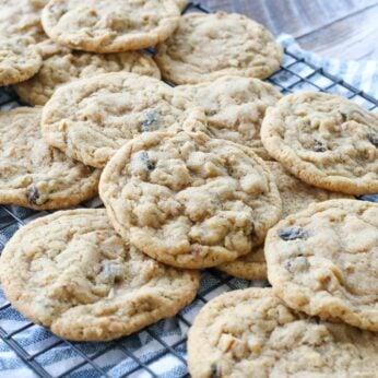 Chewy Raisin Nut Hermit Cookies