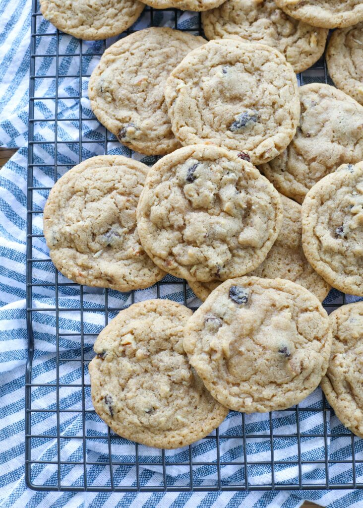 Chewy Hermit Cookies with nuts and raisins