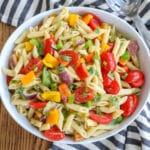 Garlicky Pepper Pasta Salad