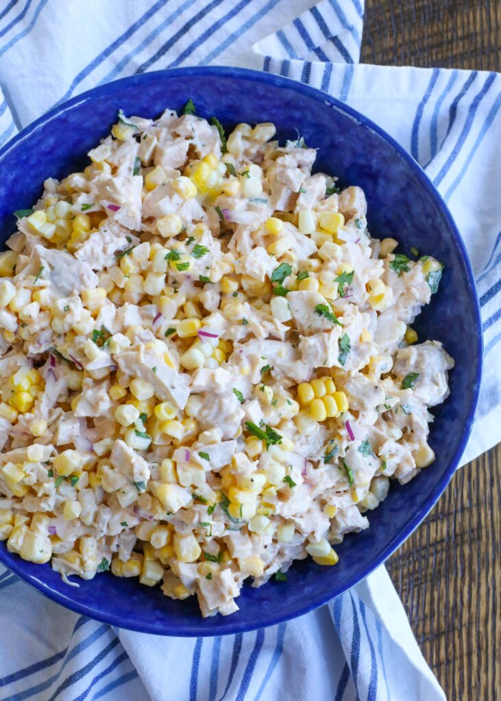 Classic Chicken Salad meets Street Corn for the chicken salad of your dreams!