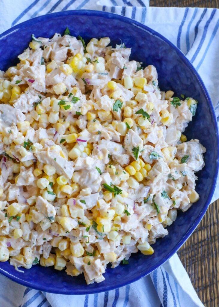 Street Corn Lover's Chicken Salad