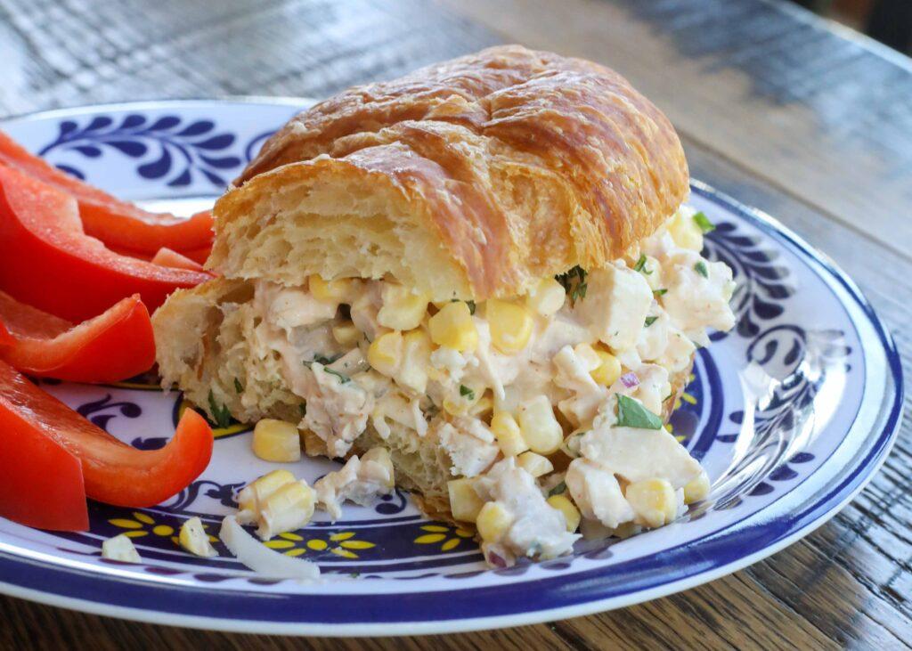 Street Corn Chicken Salad Sandwiches
