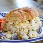 These street corn chicken salad sandwiches are a regular on our meal plan!