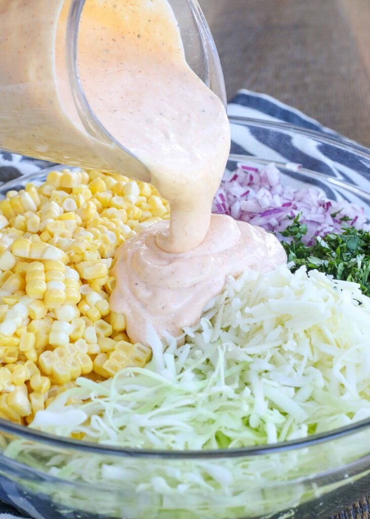 Creamy Street Corn Coleslaw