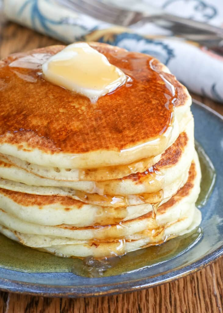 Buttermilk Pancakes - cooked on a dry griddle