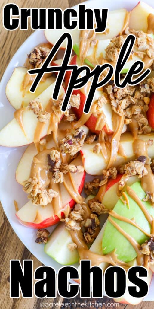 Crunchy Apple Nachos make a terrific game day snack