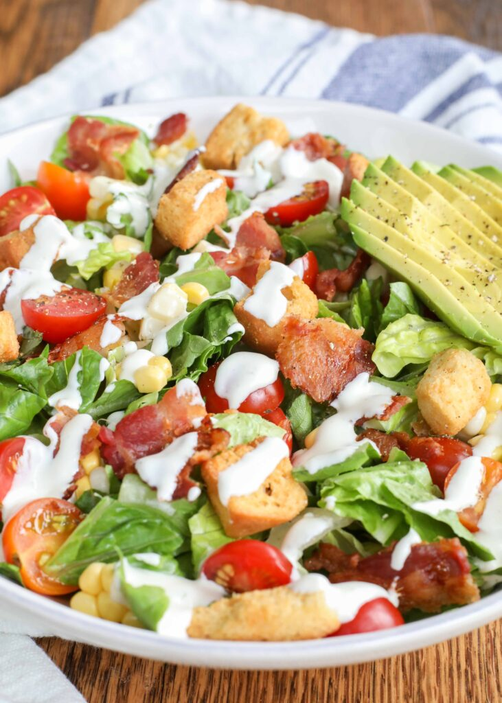 Loaded BLT Chopped Salad is a hit with kids and adults!