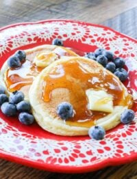 Protein Pancakes are easily made with a scoop of cottage cheese!