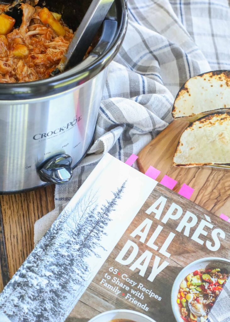 Slow Cooker Pineapple Chicken - from the Apres All Day Cookbook