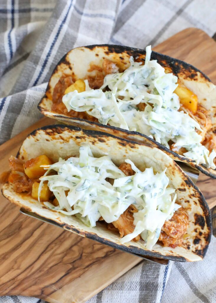 Pineapple Chipotle Chicken Tacos