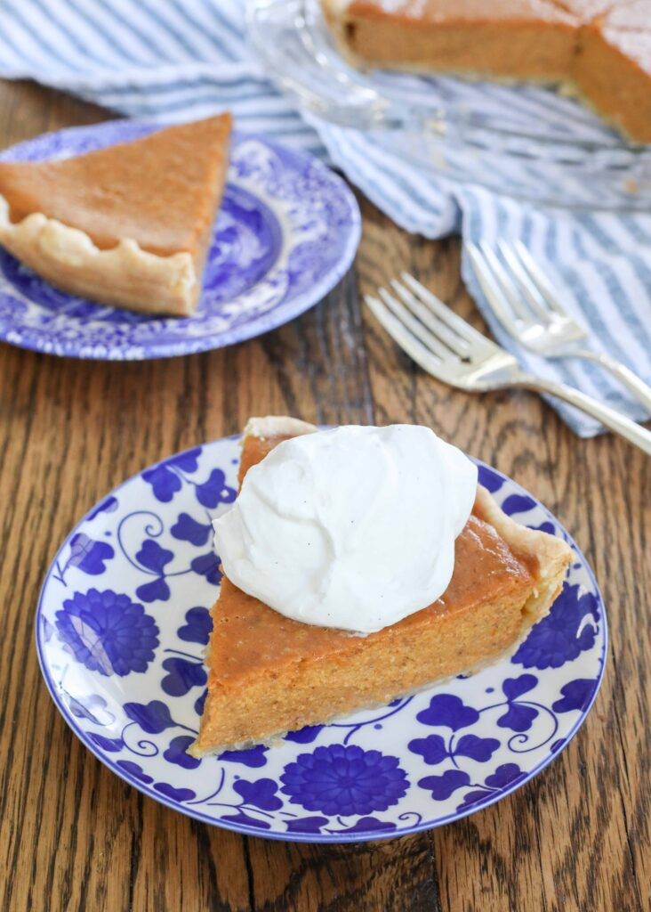 Classic Pumpkin Pie with Whipped Cream
