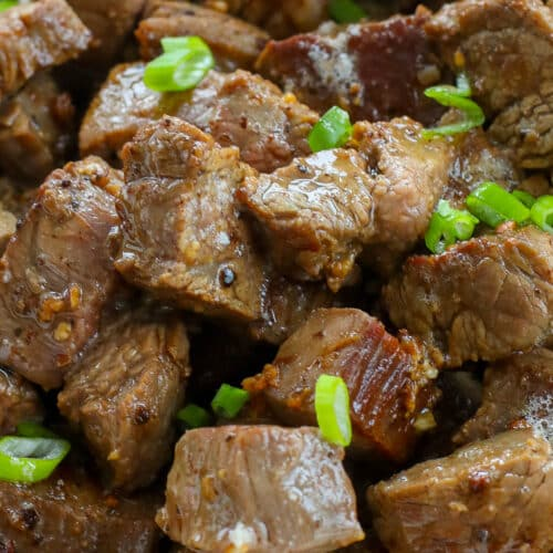 Garlic Butter Steak Bites are a huge favorite!