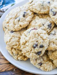 Coconut Oatmeal Cookies with Cranberries