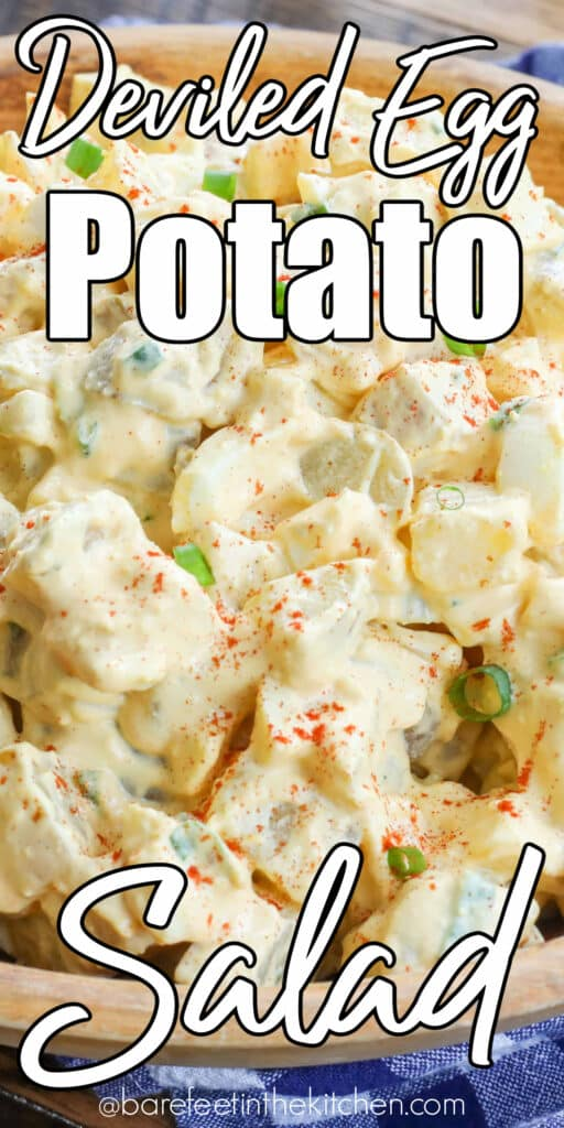 Deviled Egg Potato Salad is a terrific side for your summer barbecues!