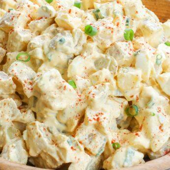 Deviled Egg Potato Salad is a summer favorite