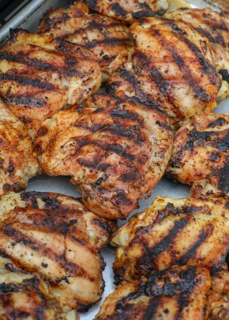 Perfectly Grilled Chicken Thighs