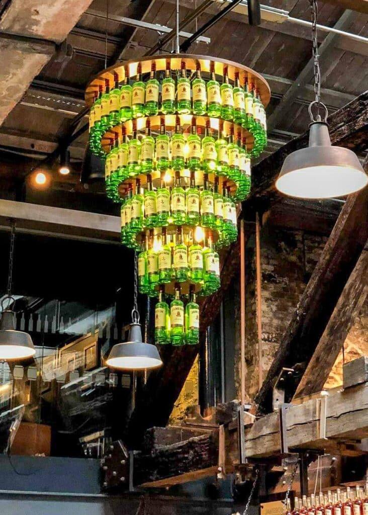 Jameson Whiskey chandelier