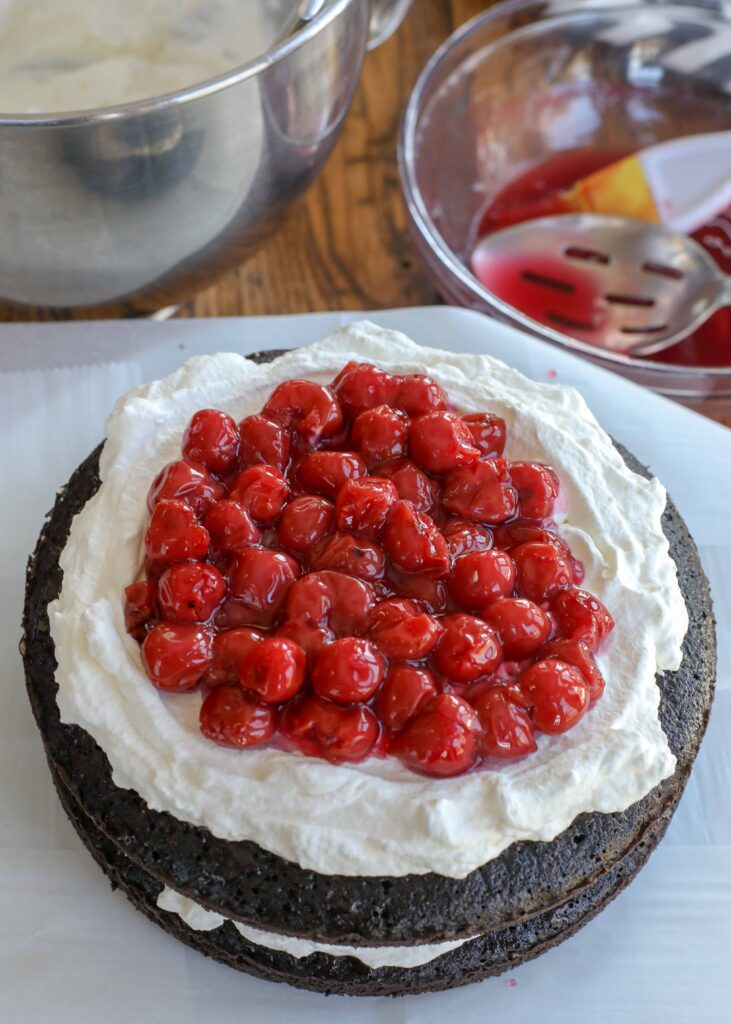 Black Forest Cake layer 6