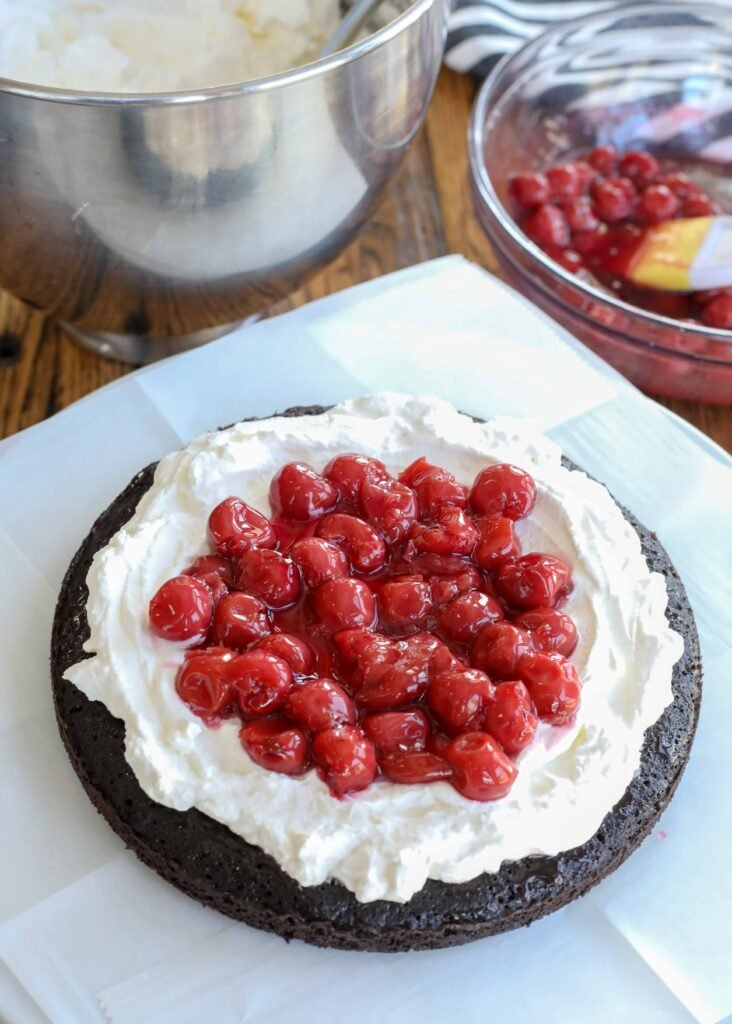 Black Forest Cake layer 4
