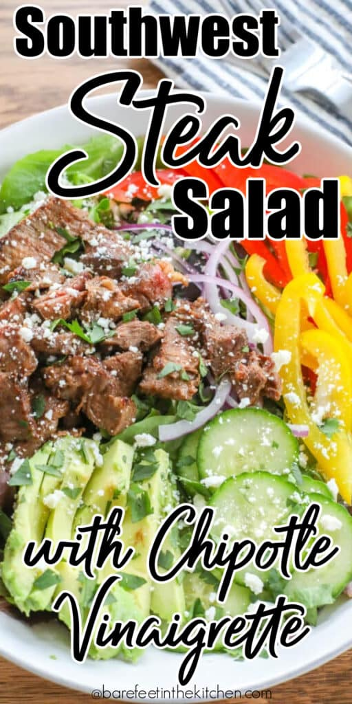 SW Steak Salad with Chipotle Garlic and Lime Vinaigrette
