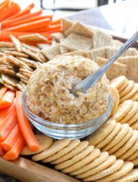 Creamy rich cheddar cheese ball