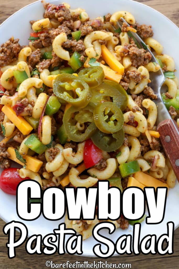 Cowboy Pasta Salad is a meat-lover's dream come true!