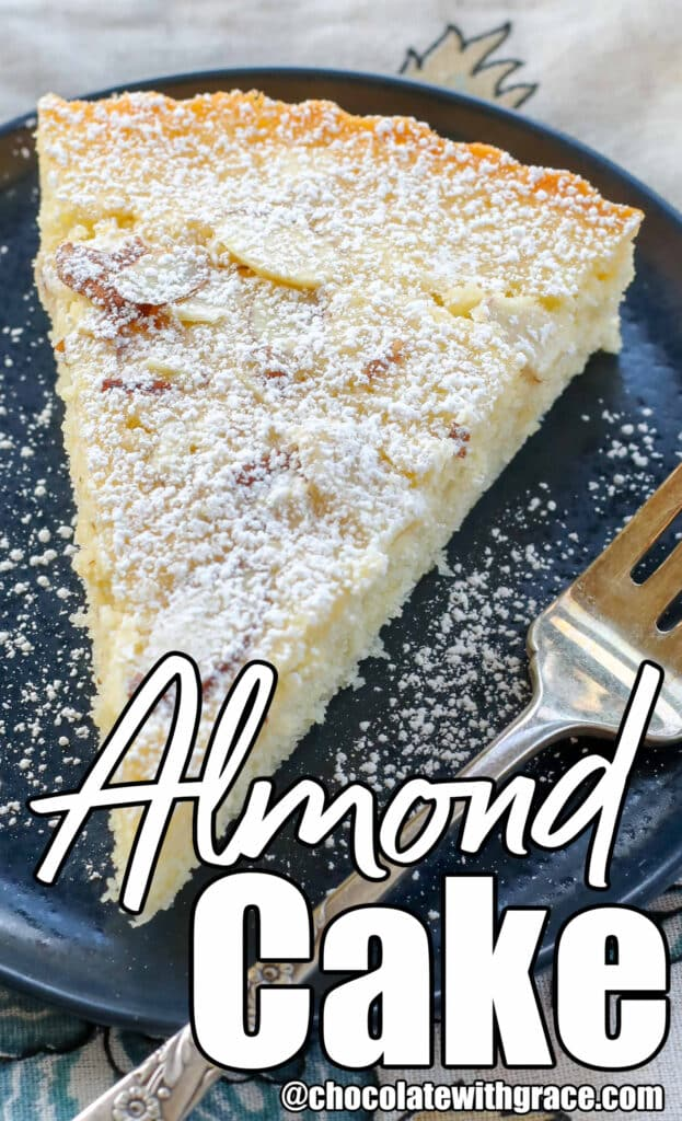Buttery, lightly sweetened Almond Cake