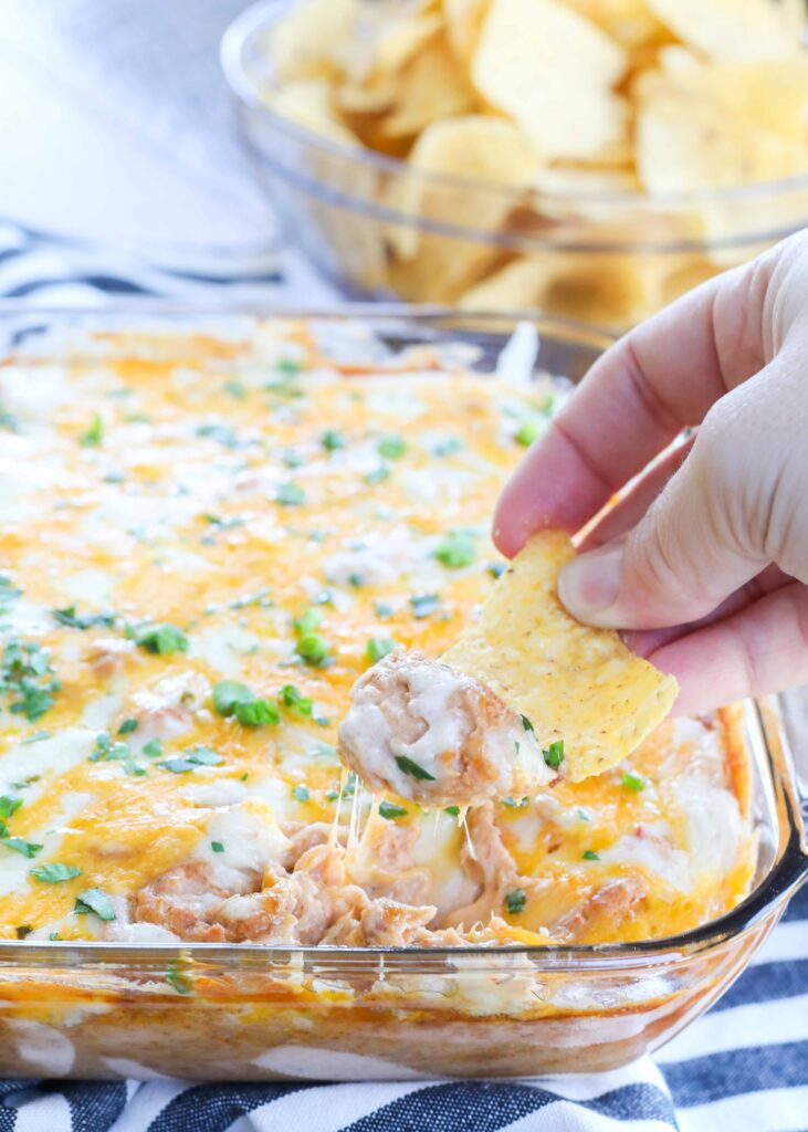 Cheesy Hot Bean Dip is a win for any occasion.