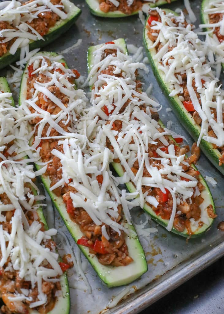 You need to try these Cheesy Sausage Zucchini Boats!